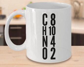 Chemical Compound Molecular Structure of Caffeine Mug - C8H10N4O2 - Chemistry Gift for Coworker Friend Boss Scholar - 11oz 15oz ceramic