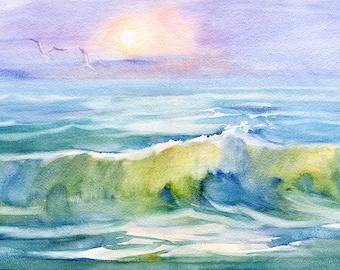 Landscape Original Watercolour Painting Q98