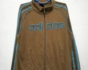 Vintage Adidas 3 Stripes Stripe Zipper Jacket