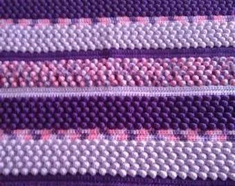 Crochet bubble stitch throw
