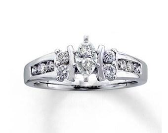 Ring 3/4ct diamond engagement ring 14K gold