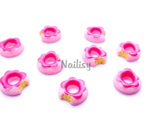 1 cabochon 17mm REF2156 Strawberry donuts