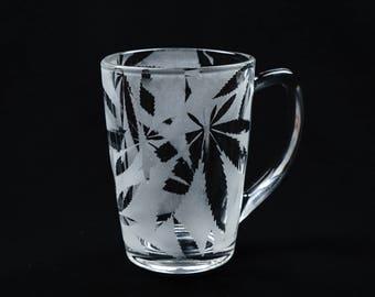 Stoner Tea mug,cannabis, leaf,stoner, weed,ganja,420,glass,gift