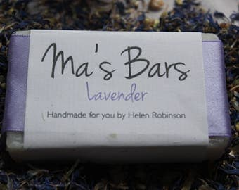 Pure lavender cold processed soap