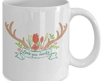 Love you dealy mug, Unique Coffee Mugs, gift for her, gift for men, christmas gift ideas, valentine's day quote, valentine's day gift ideas