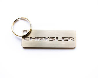 CHRYSLER stainless steel hand polished keychain