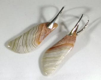 Crazy Lace Agate Earrings; Agate Earrings; Crazy Lace Cabochon Earrings; Agate Earrings