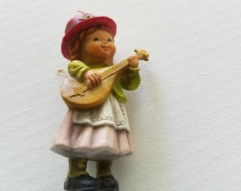 Vintage Girl playing the lute Ornament