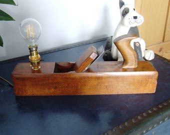 Victorian block plane, table lamp