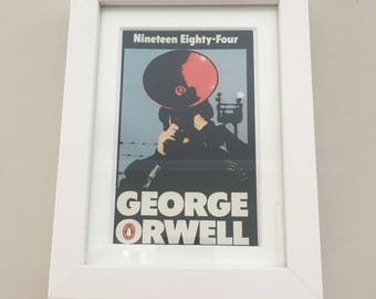 Classic Penguin Science Fiction Book cover print- framed - 1984 by George Orwell