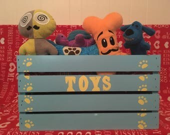 Dog Toy Box , Wooden Dog Crate , Dog Toy Storage , Toy Box