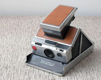 Polaroid SX-70 Leather and Chrome Land Camera with Leather Case