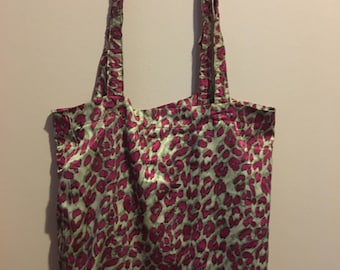 Pink leopard Tote