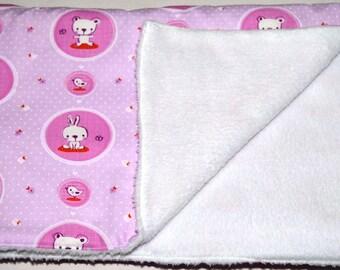 "baby patterns ""rabbits/birds"" fleece blanket"