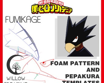 Fumikage head pattern - Boku No Hero Academia