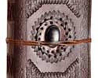 "5"" x 7"" God's Eye leather blank book w/ cord"