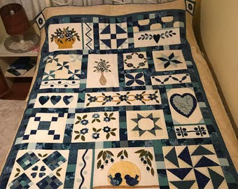 Quilt, patchwork hand crafted