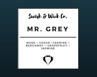 Mr. Grey | 9 oz | Fifty Shades Inspired Soy Scented Candle