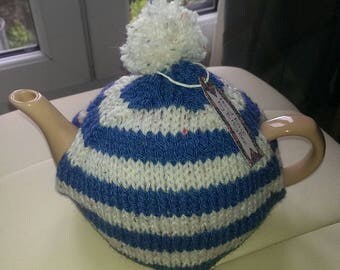 Hand knitted tea cosy bobble hat