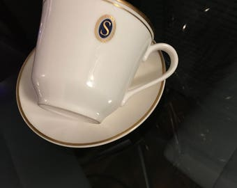 Royal doulton cup and saucer initial S