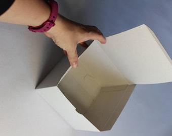 "Folding Gift Box - Pack of 10 - White Cardboard Box - 6""x6""x4"""