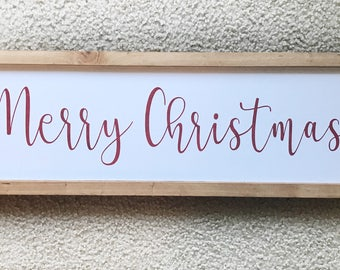 Merry Christmas wood sign, Christmas wood sign, Holiday wood sign, Christmas sign, Christmas decor, Small wood sign, Farmhouse sign, sign