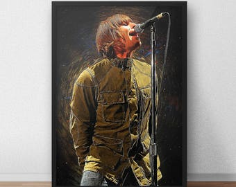 Liam Gallagher Oasis Poster