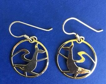 Vintage Whale Earrings by Wild Bryde