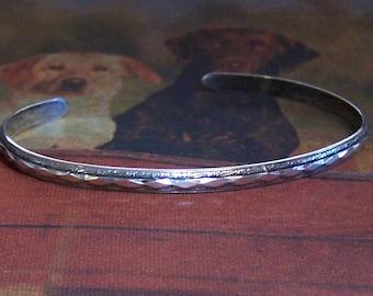 Thin Sterling Silver Cuff Bracelet