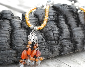 Carnelian Necklace - Carnelian jewelry - carnelian pendant - Orange carnelian pendant necklace - Healing Necklace - carnelian jewelry