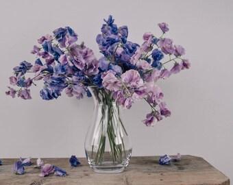Faux Sweet Pea Flower Stems