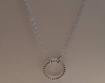 Necklace open cirkel