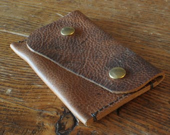 Natural, rustic card wallet with live edge