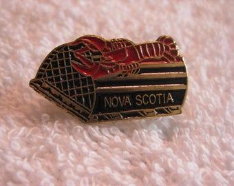 Nova Scotia Lobster and Trap  Pin