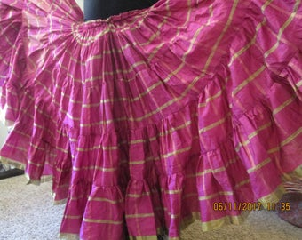 On sale now!!!!!! Light and Airy 25 yd Belly dance Skirt Tribal/ATS (6A)