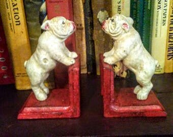 Cast Iron Bulldog Bookends