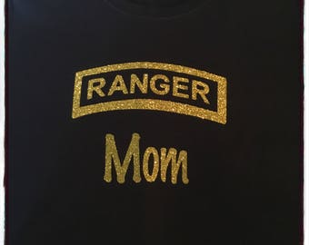 Army RANGER Sweatshirt with gold glitter