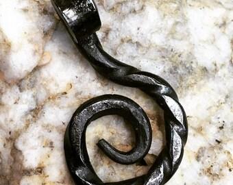 Forged steel Swirl Pendant