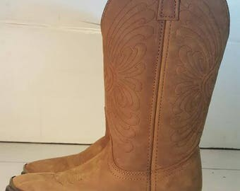 Women Size 7 Leather Brown Cowboy/Cowgirl Boots
