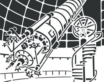 Telescope Papercut