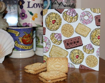 Blank biscuit greeting card