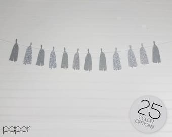 2D Custom Glitter Tassel Garland Banner - Bridal Shower, Baby First Birthday Party Decorations, Wedding Decor, Bachelorette