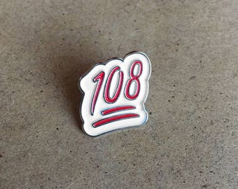 Chicago Cubs Pin - Celebrate 108 years since Chicago Cubs World Series Championship with this Emoji Pin