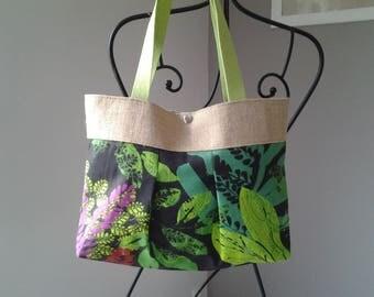 Tote fabric rainforest