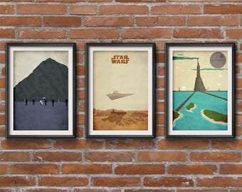 Star Wars Rogue One Set of 3 Posters - Star Wars Rogue One Minimalist Print - Star Wars Posters, Rogue One Wall Art, Set of 3 Posters