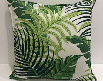 Sanderson fabric - white with palm print - 18x18in