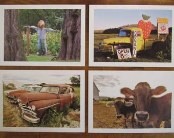 Colorful Country Scenes Note Cards