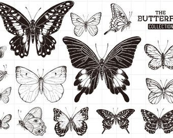 """Clear stamp """"butterfly"""""""