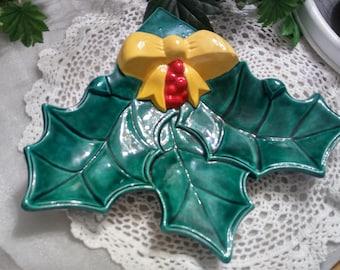 Vintage Handmade Leaf Platter