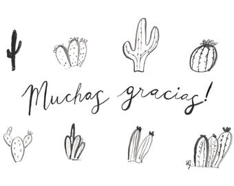 Muchas Gracias Thank you card